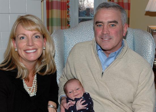 Brad with his wife. Monica, and son, Brad Jr.